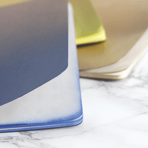DIY Ombre Notebooks