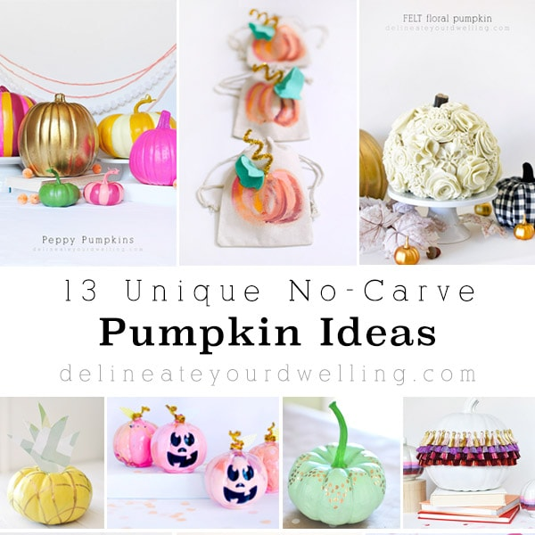 13 Unique No-Carve Pumpkin Ideas