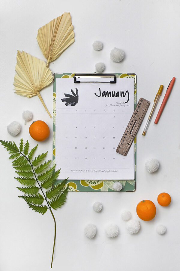 Free January 2021 Printable Calendar