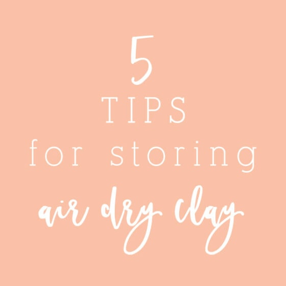 How to Store Air Dry Clay