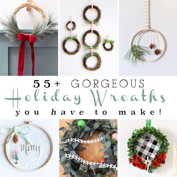 55+ Festive Holiday Wreaths you have to make