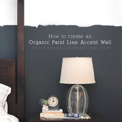 1-Create Organic Paint Line Accent Wall