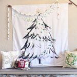 1-DIY Christmas Tree Wall Hanging