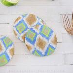 1-DIY Ikat Cork Coasters