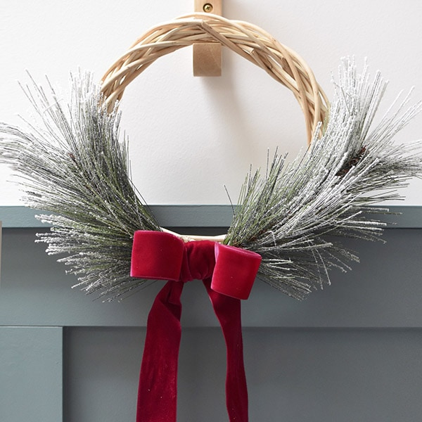 Simple Holiday Evergreen Wreath
