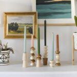 1-DIY Wooden Candlesticks