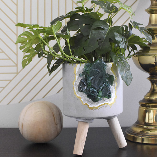 DIY Geode Rock Planter