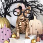 1-Gold French Bull Dog Skeleton