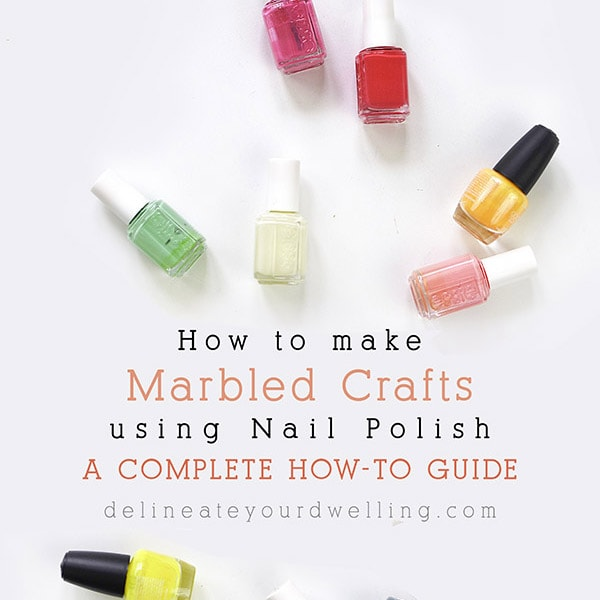 How to Marble using Nail Polish