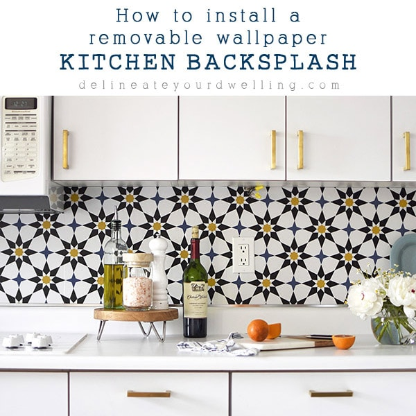 How to install a Removable Wallpaper Backsplash