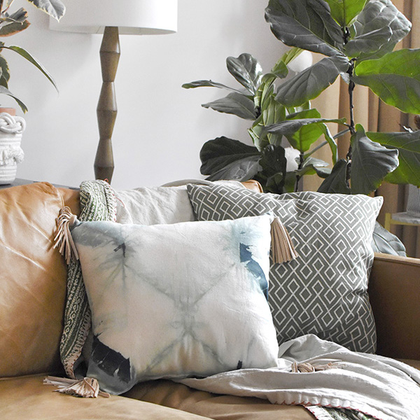 How to make and add leather tassels to a pillow