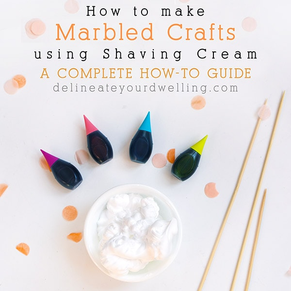 How to marble using Shaving Cream