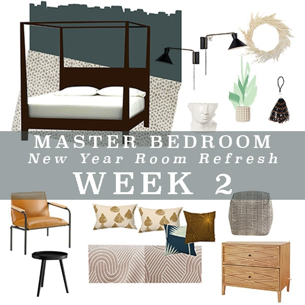 Master Bedroom Refresh painting + colors, week 2