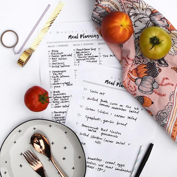 Simple Block Weekly Meal Plan hack + Printable
