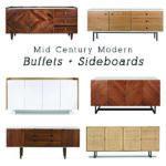 1-Mid Century Modern Buffet Sideboards