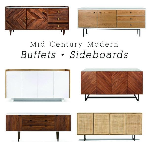 Best Mid-Century Modern Sideboard + Buffets