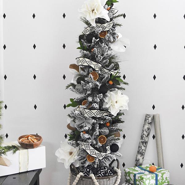 Natural Modern Flocked Christmas Tree