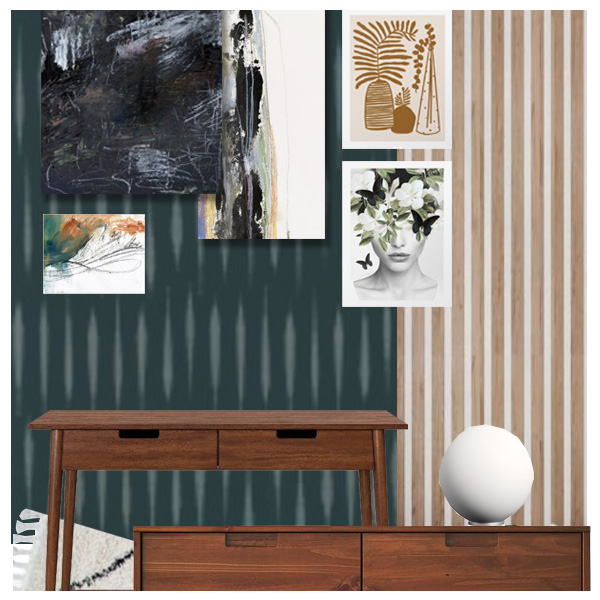Moody Teal Office and Guest Room Plans