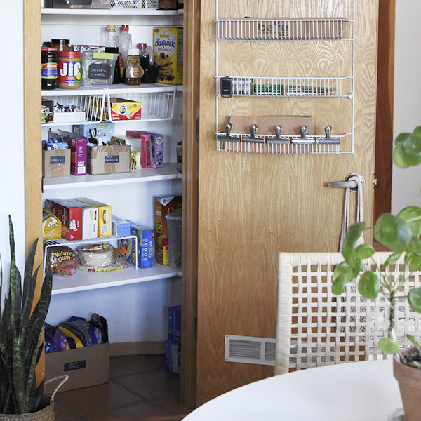 Organize Your Pantry with boxes and containers