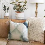 1-Tie Dye Tassel Pillows