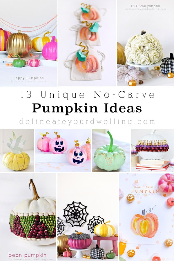 13 Unique No Carve Pumpkin Ideas