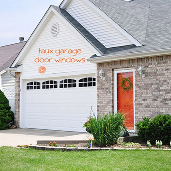 Install Faux Garage Windows