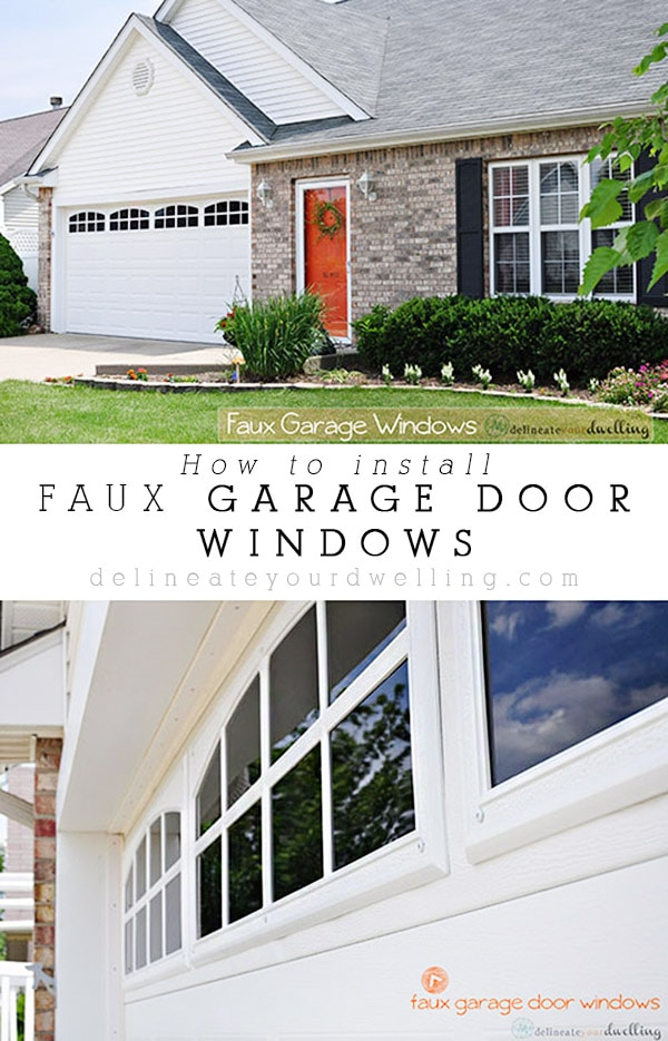 Delicieux How To Install Faux Garage Door Windows To Instantly Improve Your Curb  Appeal! Delineate Your