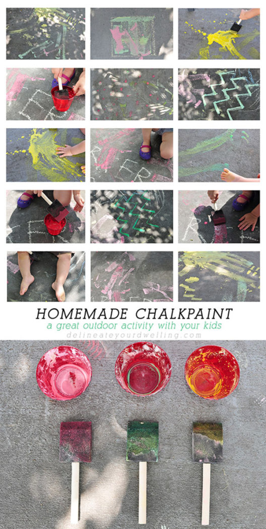 How to make kid friendly Homemade Chalk Paint, Delineate your dwelling #chalkpaint