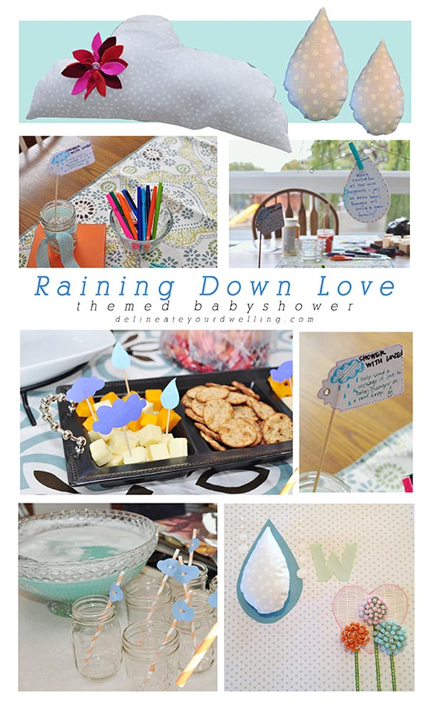 Celebrate with a Raining Down Love Baby shower! Delineate Your Dwelling