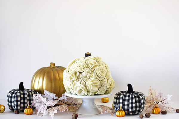 Felt, Gold and Buffalo Check Pumpkins