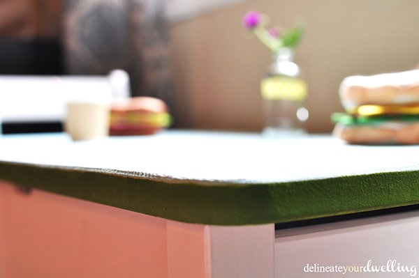 Kid's Chalkboard Desk green edge