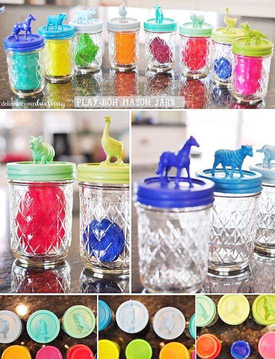 Mason Jar Playdough, Delineateyourdwelling.com