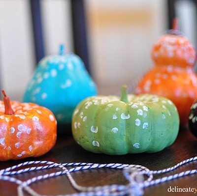 Color Polka Dot Pumpkin, Delineate Your Dwelling