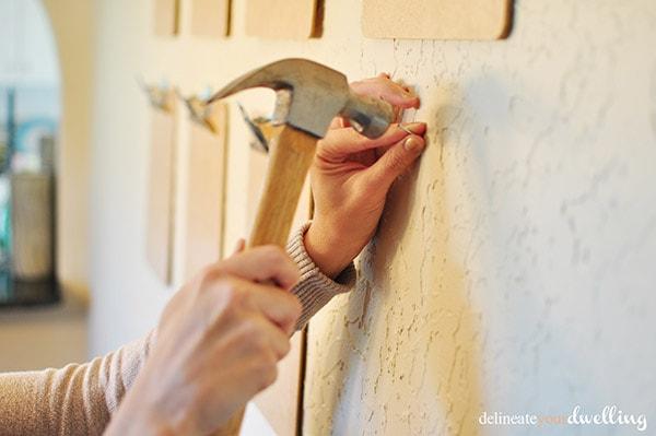 Clipboard Gallery Wall nail, Delineateyourdwelling.com