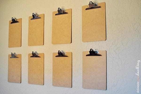 Clipboard Gallery Walls, Delineateyourdwelling.com