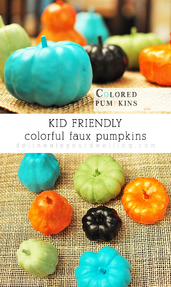 Kid Friendly Colored Pumpkins
