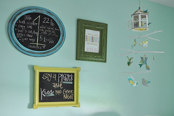 Nursery Tour frames