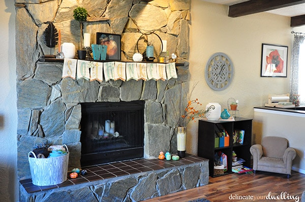 Book Banner fireplace, Delineate Your Dwelling