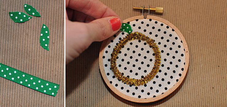 Embroidery Hoop Ornament leaves, Delineate Your Dwelling