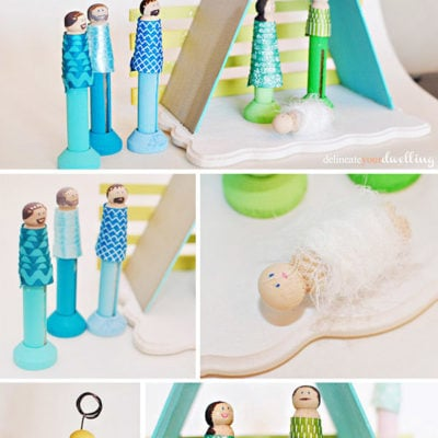 Modern Clothes Pin Christmas Nativity Scene, Delineate Your Dwelling
