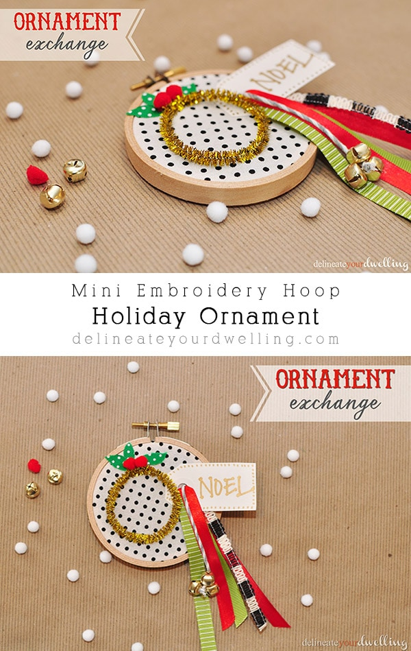 How to make a simple Embroidery Hoop Holiday Ornament, Delineate Your Dwelling