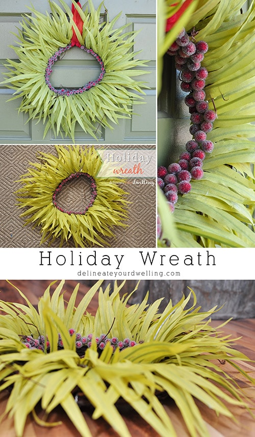holiday wreath, Delineateyourdwelling.com