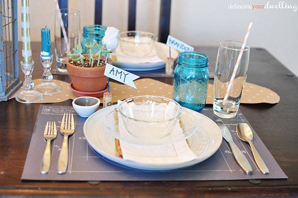 White Thanksgiving plate
