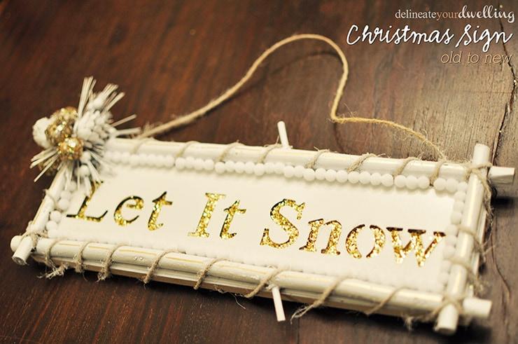 Modern Let it Snow sign