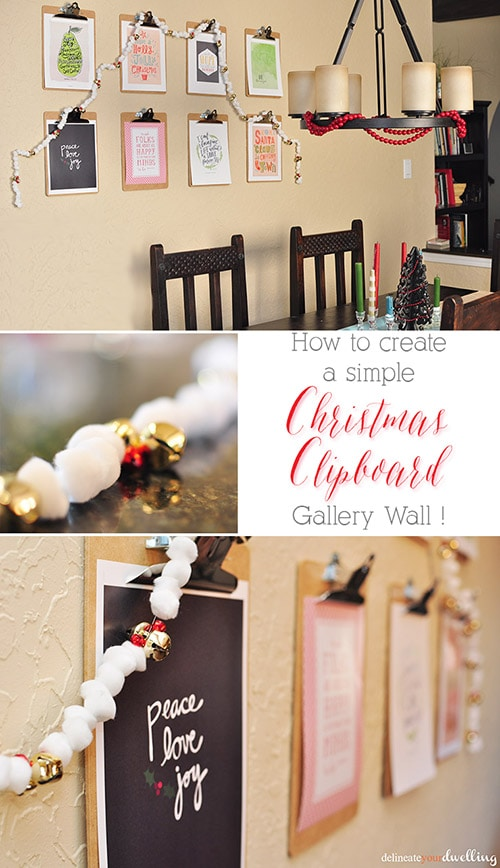 Christmas Clipboard Gallery Wall