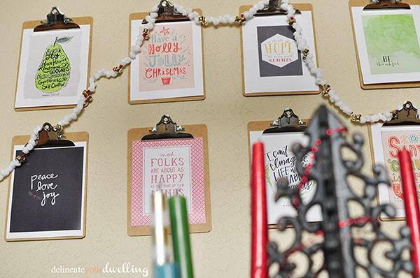 Christmas Wall Clipboard