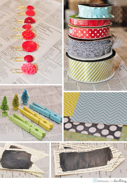 Christmas Wrapping Embellishments, Delineateyourdwelling.com