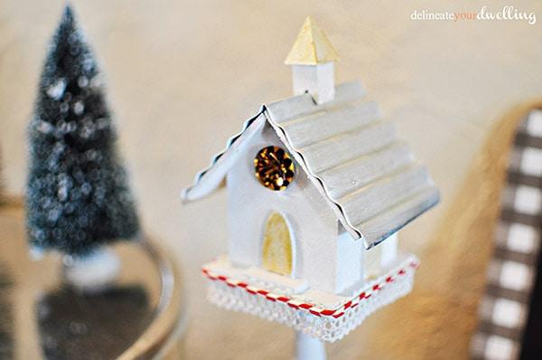Holiday Decor Birdhouse