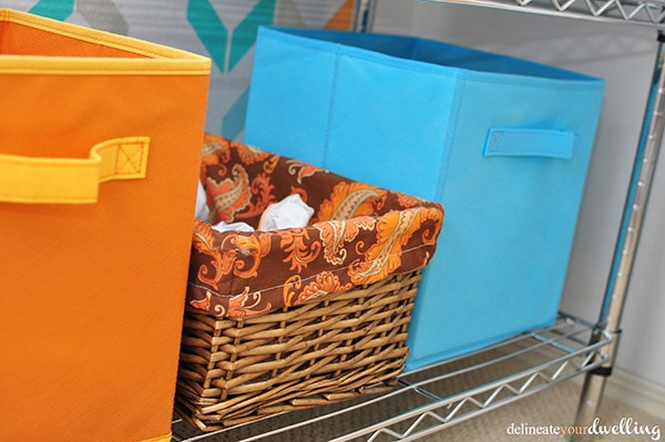 Kid's Shared Closet cloth bins, Delineateyourdwelling.com