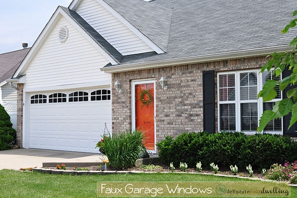 Faux Garage Door Windows, Delineateyourdwelling.com